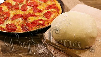 Тесто для пиццы на кефире - Видео Рецепт