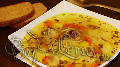 Молдавская Зама - куриный суп с домашней лапшой - Рецепт с ВИДЕО