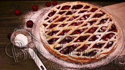 Пирог с вишней из слоёного теста - Видео Рецепт