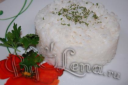 Рис для гарнира, на сливочном масле