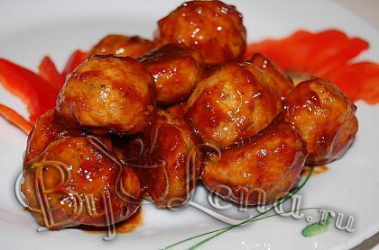 Тефтели в кисло-сладком соусе