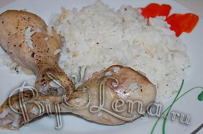 Запеченная курица с рисом
