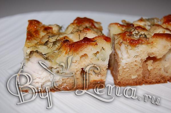 """""""Oткрытый пирог с курицей и сыром"""" - Главная фотография"""